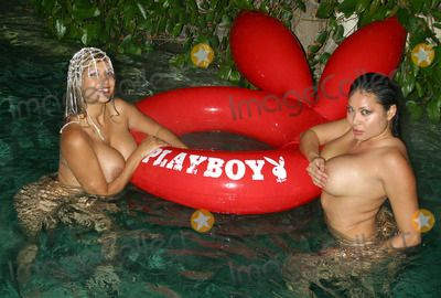 Playboy mansion pool party nude