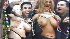 Mardi gras boob flashes