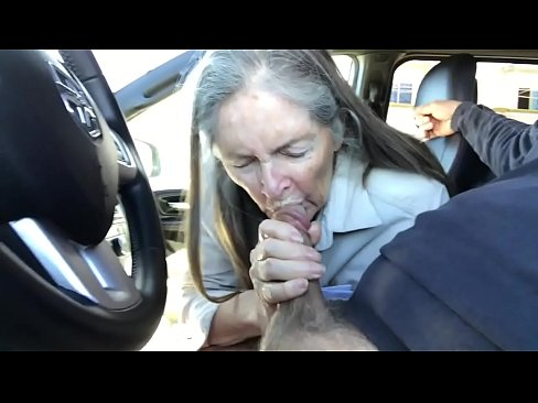 Mom giving blowjob in car