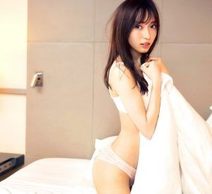 Naked girl in bath