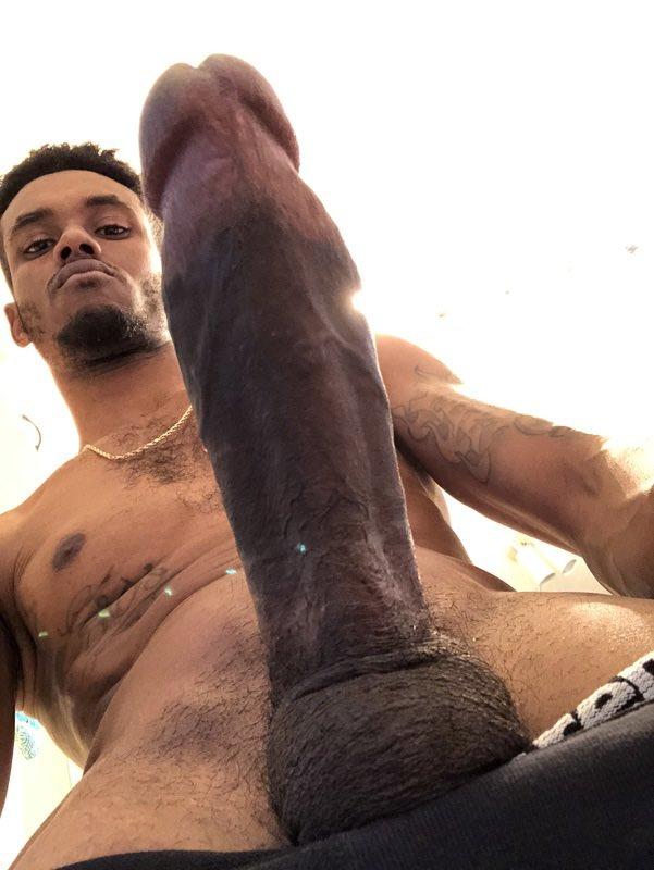 Black selfies thick long dick