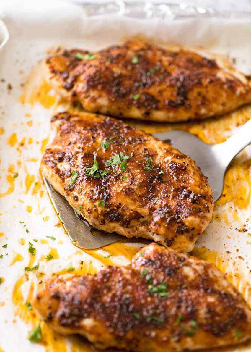 Bake boneless chicken breast