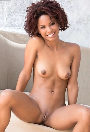 Naked black young woman