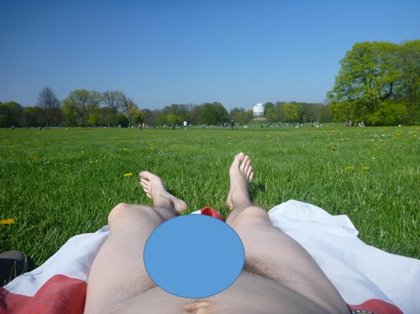 Cfnm boner nude beach erection