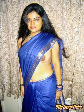 Saree naked images open aunty indian