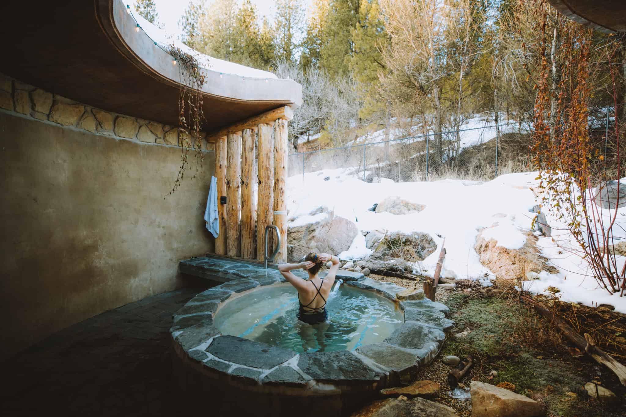 Nude outdoor hot springs
