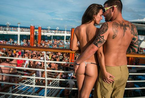 Mature milf nude on boat