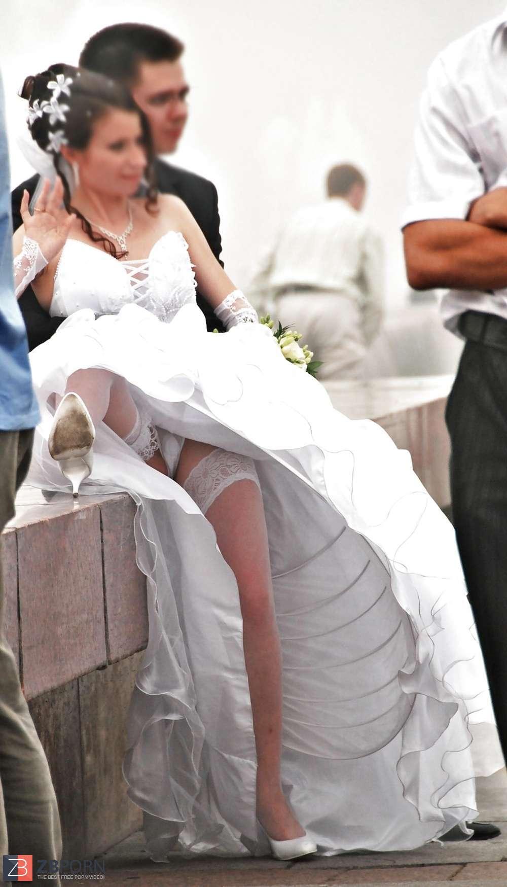 Bride wedding voyeur oops