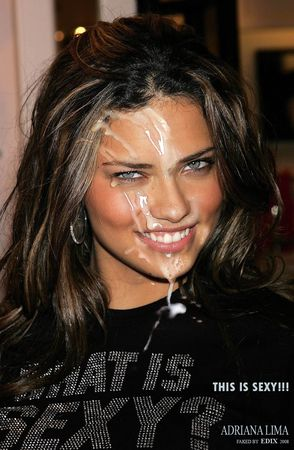 Adriana lima blowjob fake