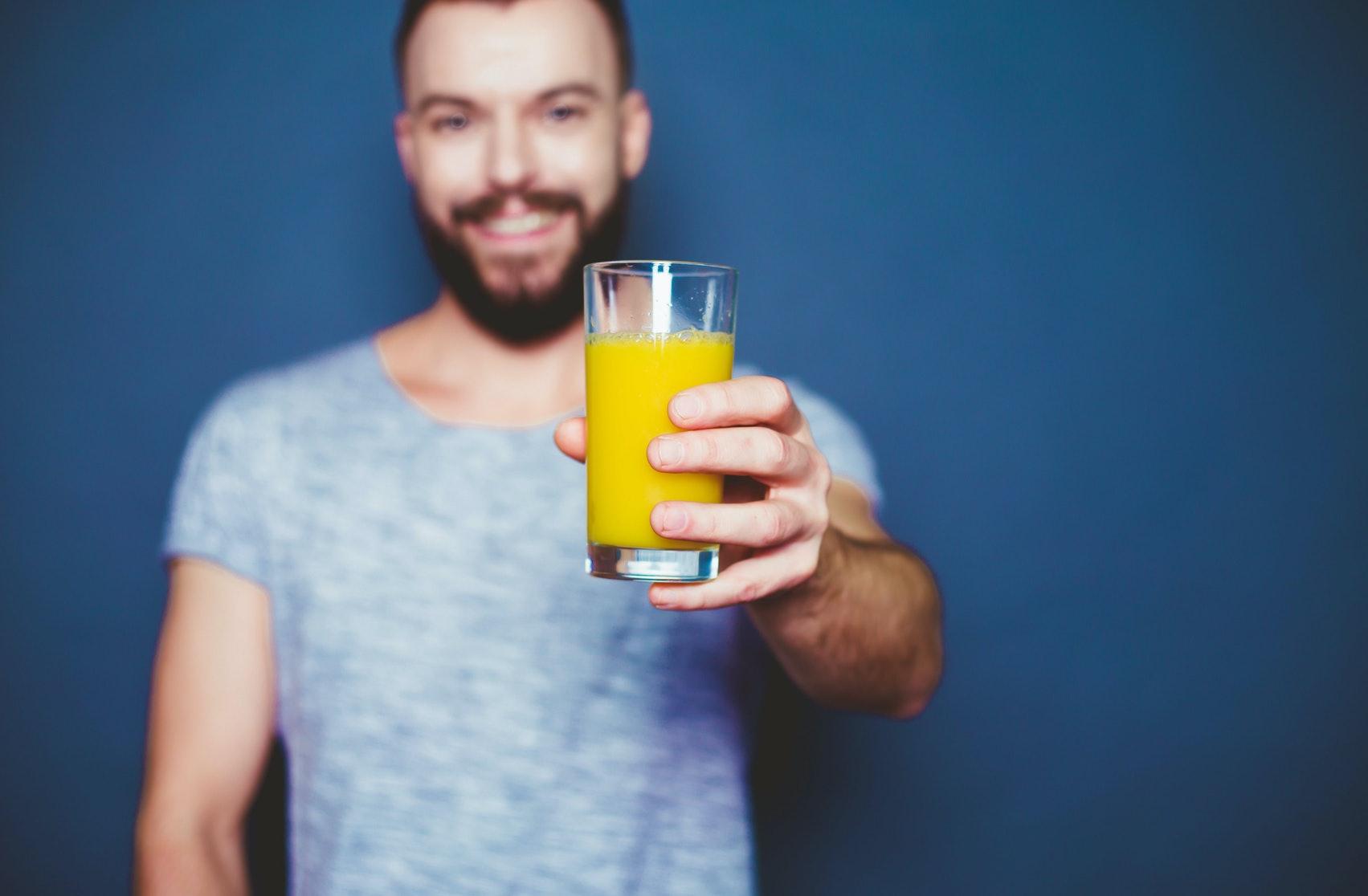 Apple juice change taste of cum