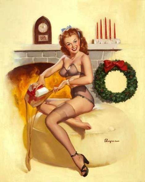 Christmas pin up girls nude