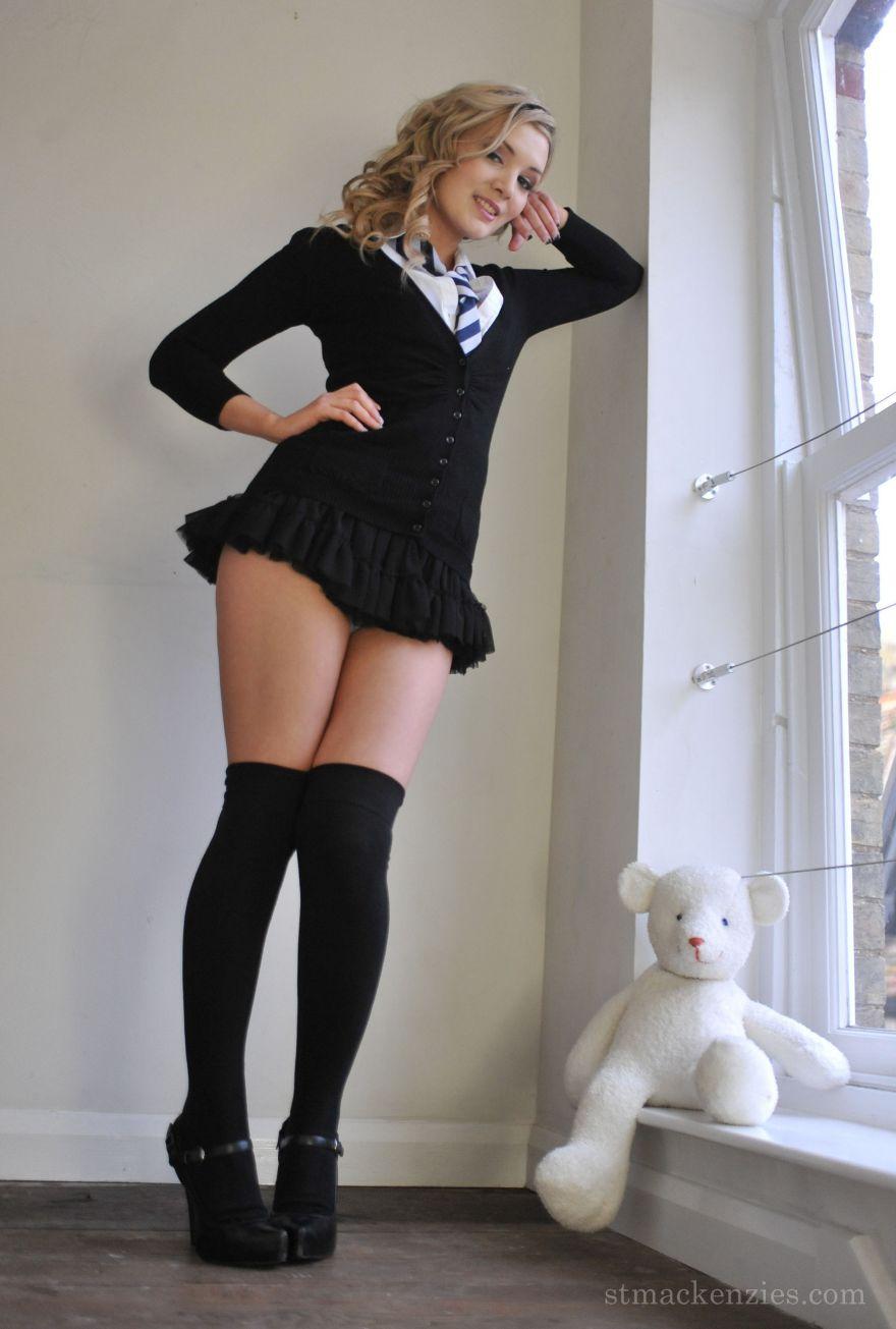 High shool nude stocking pics