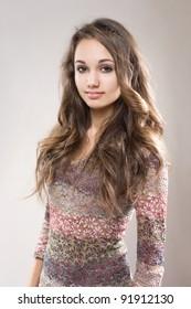 Sweet brunette teen girl