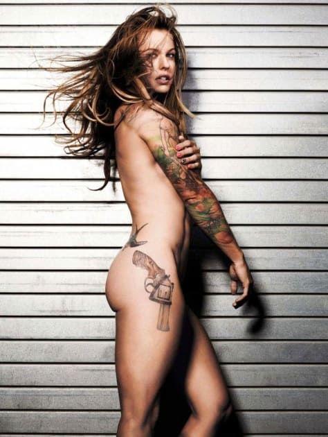 Christmas naked girls tattoo