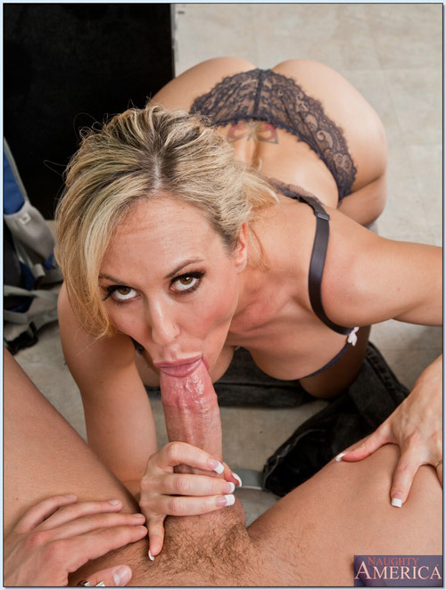 Blonde milf teacher blowjob