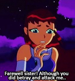 Starfire teen titans captions