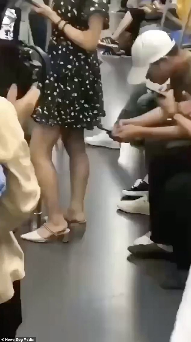 Old man young girl skirt