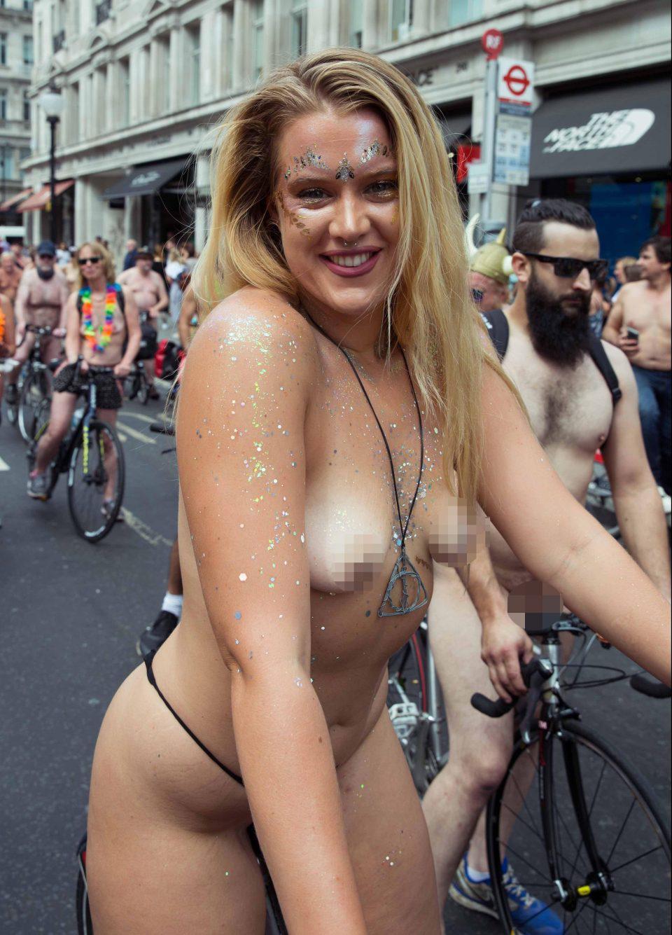 Bike beautiful women ride naked