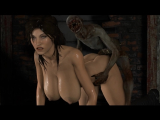 Lara croft monster porn