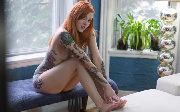 Sexy suicide girls redhead nude