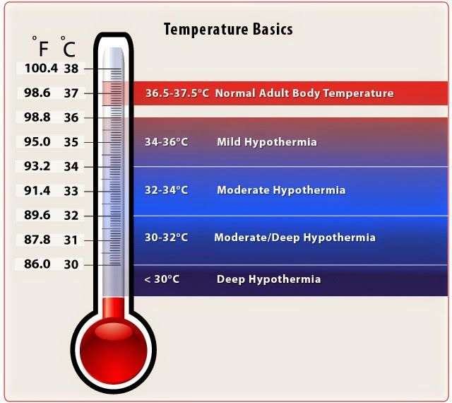 Normal adult body temperature
