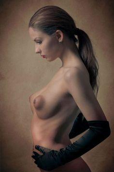 Nude black puffy boobs