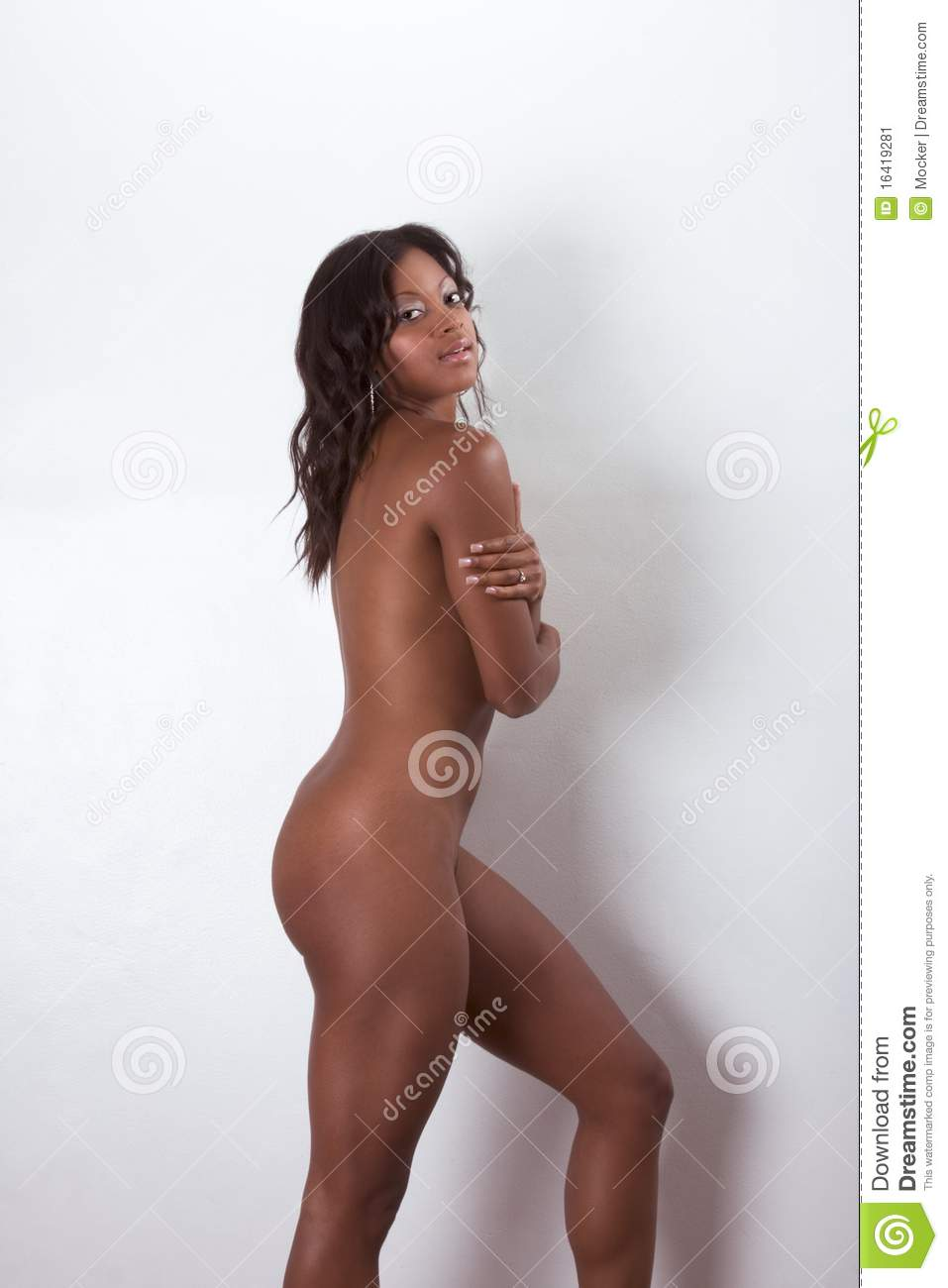 Black afro woman nude