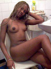 Bathroom naked pics black girl