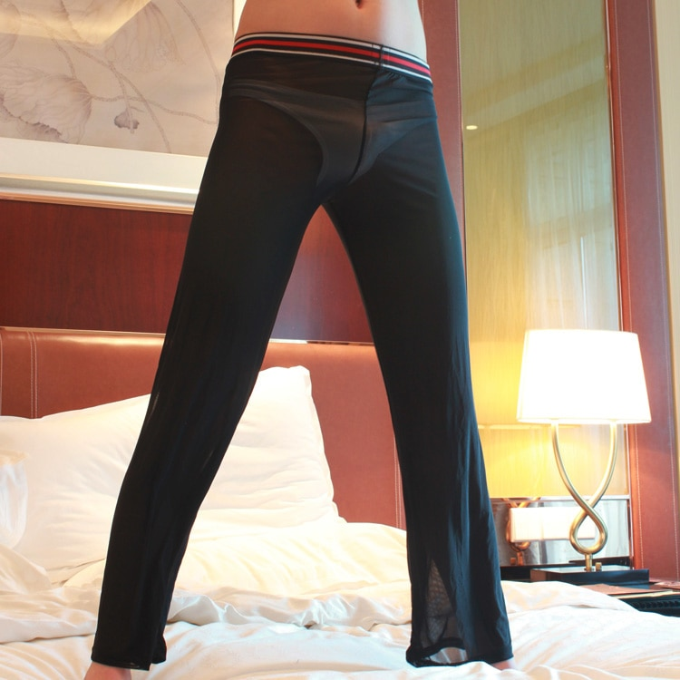 Men see through yoga pants