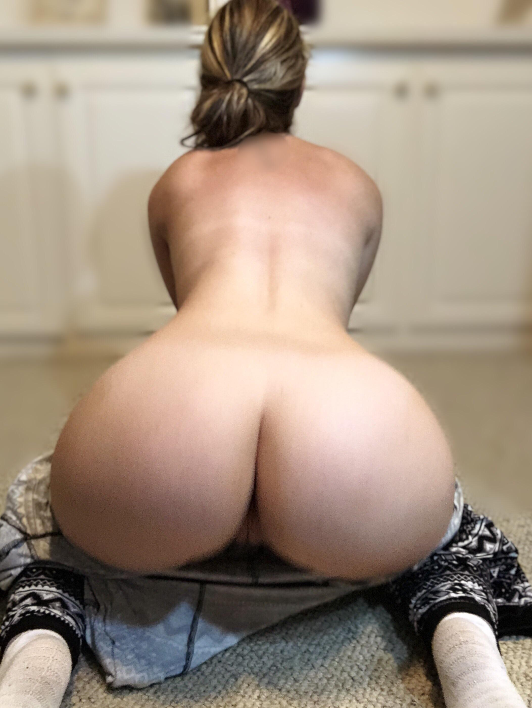 Naked woman bend over