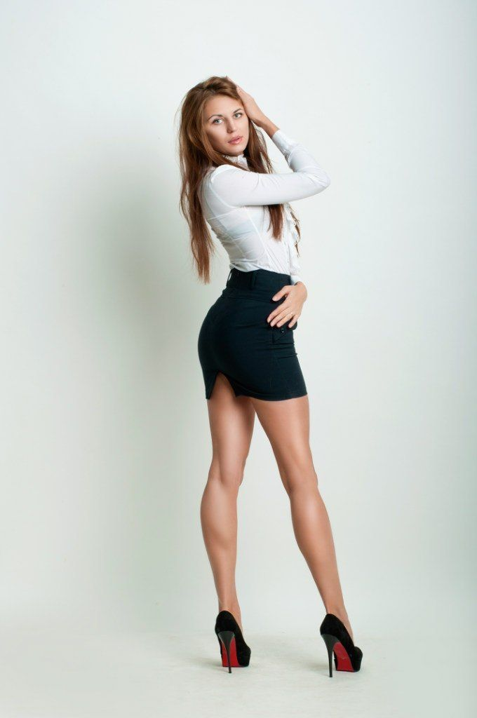 Women in short skirts high heels