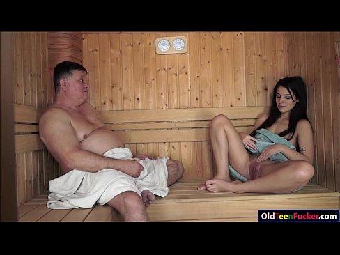 Girl fucked in sauna