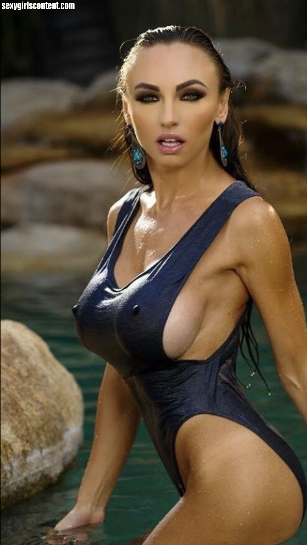 Women with hard erect nipples