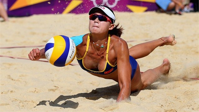 Naked beach volley ball