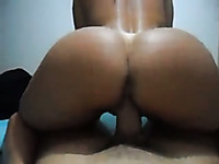 Reverse girl riding dick
