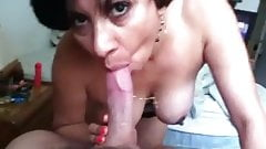 Mature latina wife blowjob