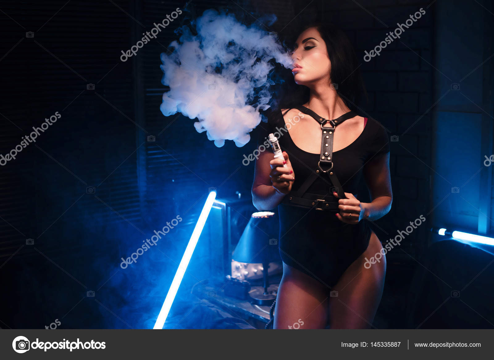 Sexy girl with hookah
