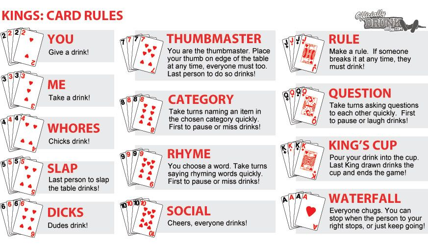 Adult card game rule