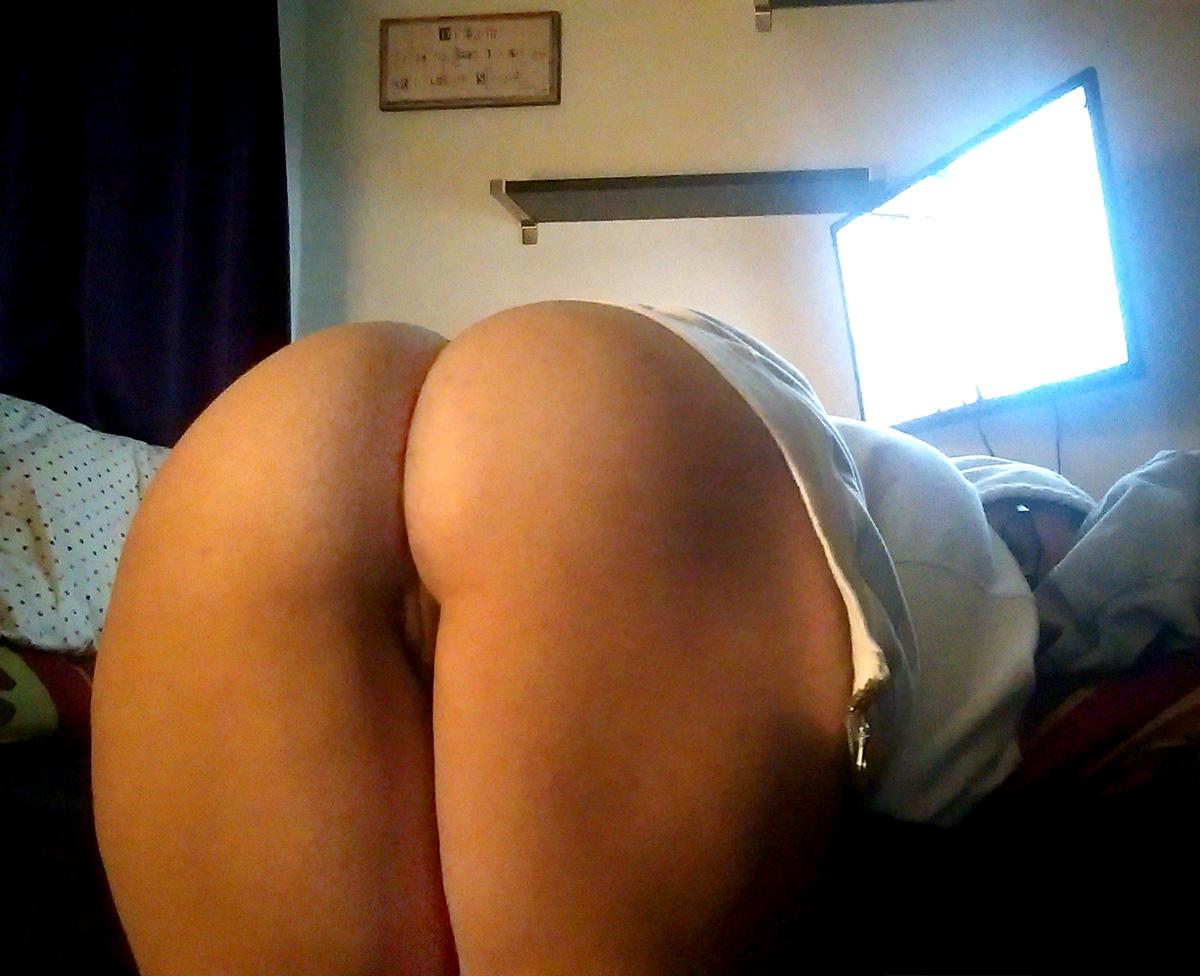 Huge round ass bent over