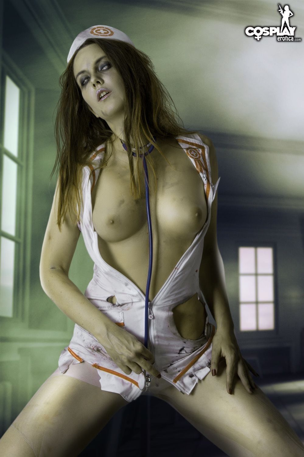 Sexy zombie girl naked