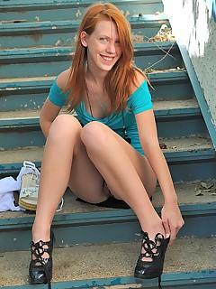 Milf redhead naked german