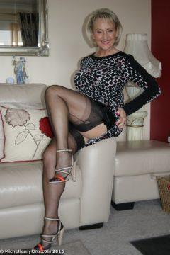 Mature michelle nylon stockings
