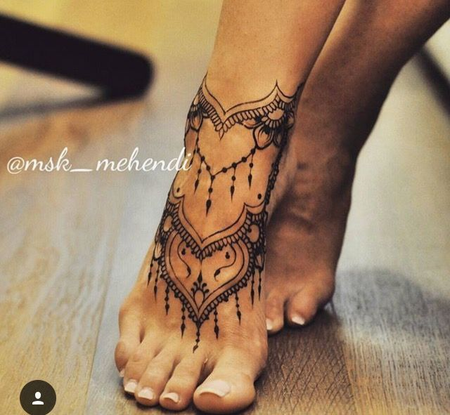 Henna tattoo on foot