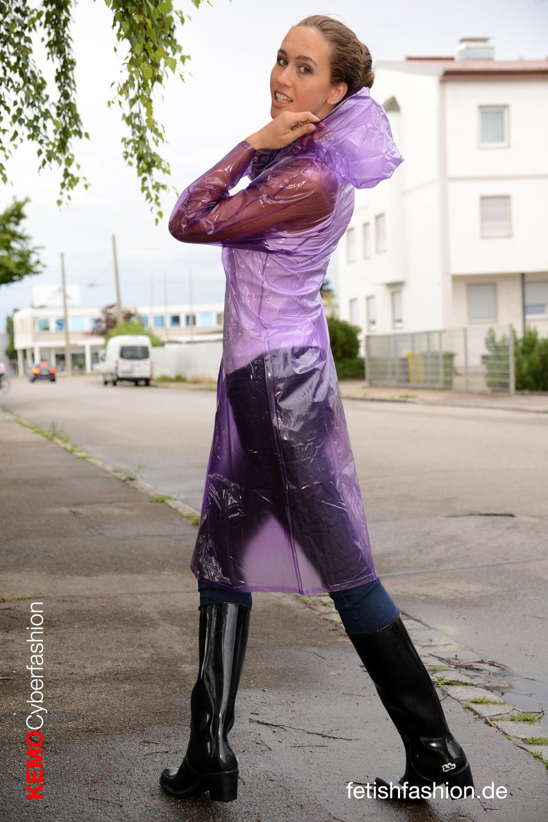Womens pvc latex fetish rainwear