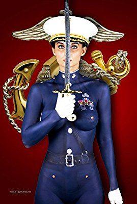 Military body paint women