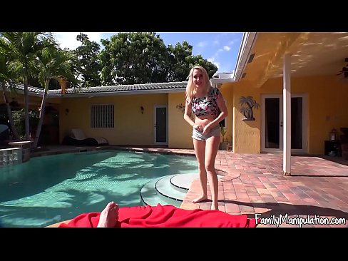 Naked mom and son skinny dipping