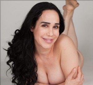 Naked legs behind head