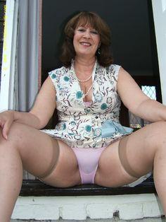 Sheer big in horny thighs panties mature