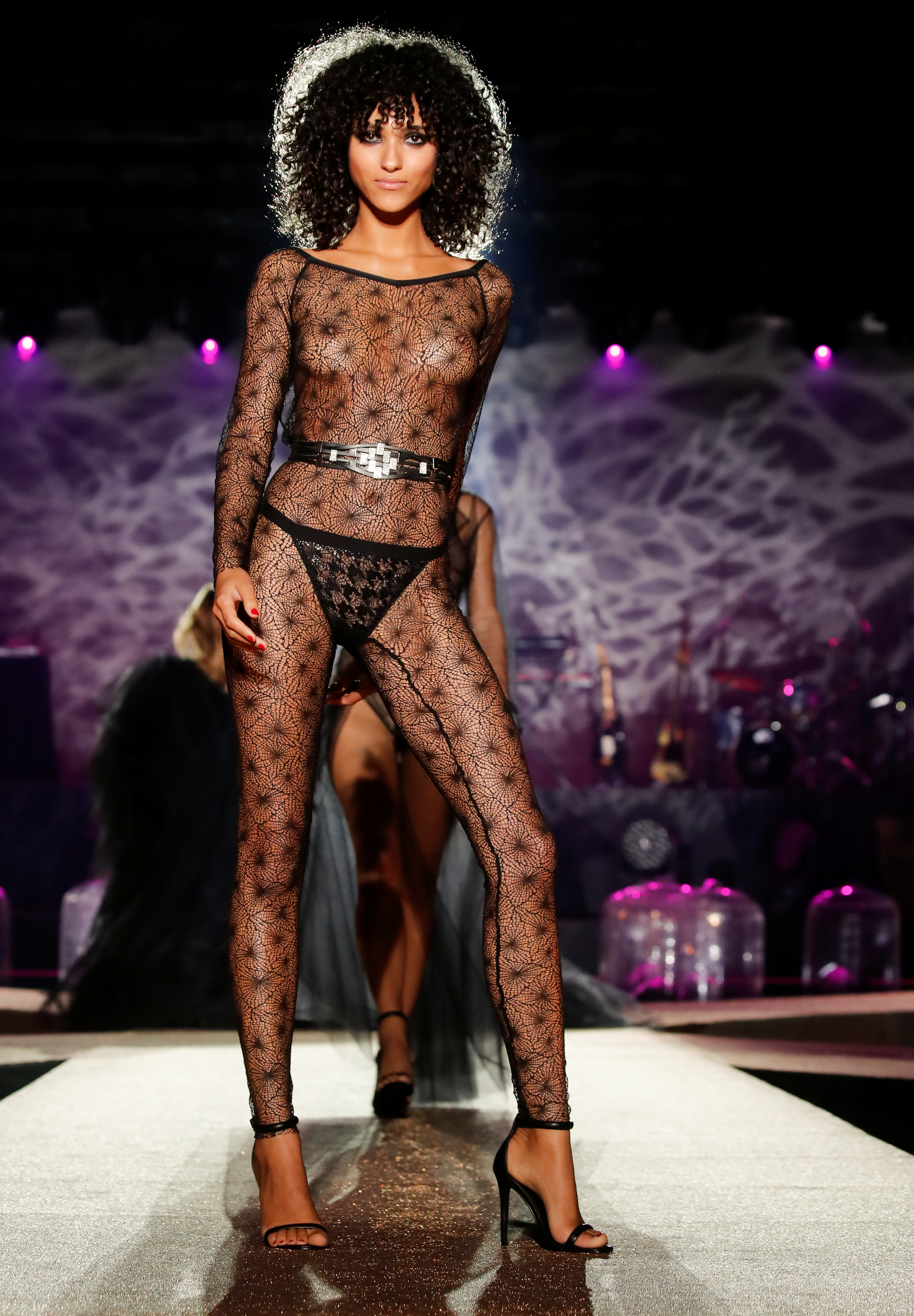 See through lingerie fashion shows