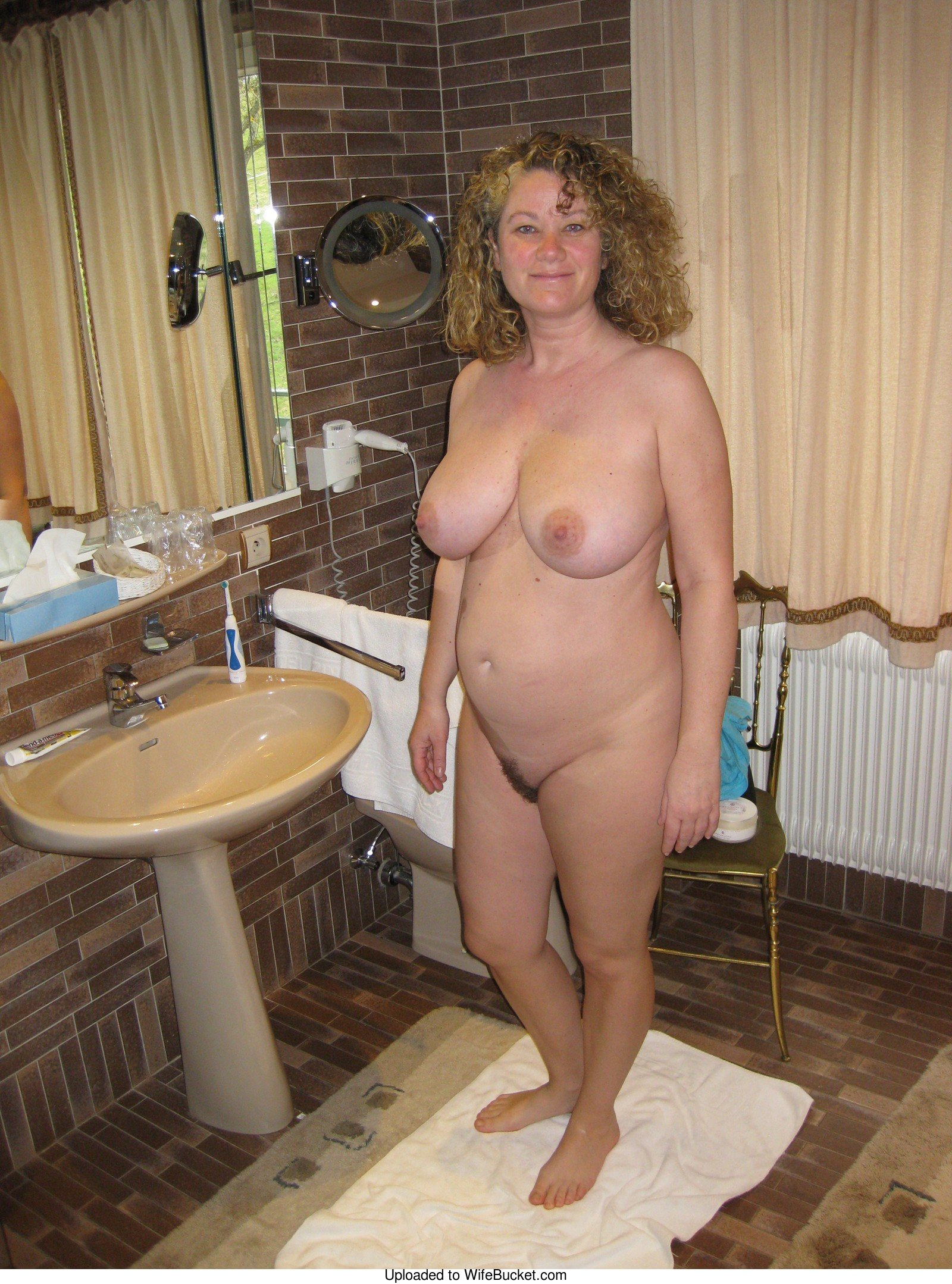 Almost naked amateur wives